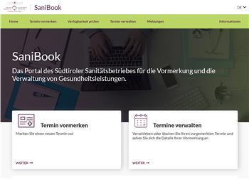 Neuer Onlineauftritt für die Vormerkungen von Fachleistungen: http://www.sabes.it/onlinevormerkung