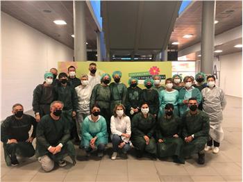 Una bella sorpresa per il Team vaccinale della Fiera di Bolzano